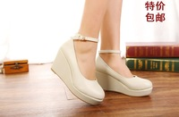 Fashion new arrival sweet comfortable wedges single shoes plus size women's shoes small single shoes 30 31 32 33 Small