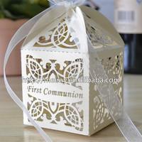 2015 communion supplies,laser cut paper boxes for souvenir first communion