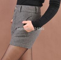 Free Shipping 2015 Corea  Fashion  SZ Women Shorts New Design Top Quality  Women  Woolen Short Pants Female Shorts Cheap price