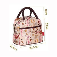 2015 New High Quality Canvas Outdoor Lunch Bag Drink Easy Picnic Carry Bag Box Pouch