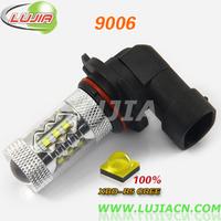 free shipping 2pcs/lot high power 9006 HB4 80w 16pcs*5w CREE XBD-R5 chips LED Fog Light DC12V 9006 80W white car light sourse