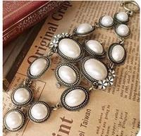 SL097 Hot Fashion 2015 New Luxury market flower punk retro temperament pearl bracelet Wholesale Jewelry Accessories