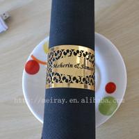 wholesale laser cut paper napkin rings, wedding rings paper,party napkin rings metallic in stock