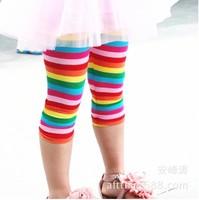 Pls buy any 2pcs in shop 2015  size100~140 summer girls leggings children pants child trousers seventh rainbow legging