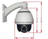 Free DHL/FedEx High Quality 1/3 CMOS mini Speed Dome PTZ Camera 800TVL 10X ZOOM Night IR CCTV Camera Surveillance