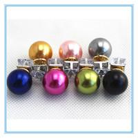 Double Side Wear Pearl Crystal Stud Earrings Trendy Cute Charm Ball Stud Earrings Accessories Jewelry For Women