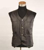 2015 New Quinquagenarian Men's  Leisure Vest  genuine leather  keep warm Plus Size Vests waistcoat Tops Fur clothing