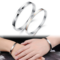 OPK 1 Pair Price Fashion Cubic Zirconia Lovers' Bangles Classical YOU ARE MY ONLY LOVE Women Men Jewelry 748