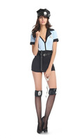 New Hot Sale blue cosplay uniform Halloween policewomen uniform temptation Wholesale Freeshipping