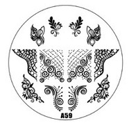 HOTSALE A Series A59 Nail Art Polish DIY Stamping Plates Image Templates Nail Stamp Stencil Manicure Care Beauty Designs Tools