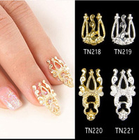 3D Glitter Alloy Hollow Out Nail Art Sticker Slices Charms DIY Nail Jewelry  Nail Decoration 5PCS