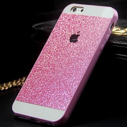 Luxury Crystal Bling Glitter Powder Shine Hard Case Protector Cover For iPhone 4 5 5s 6 fundas skin capa para(China (Mainland))