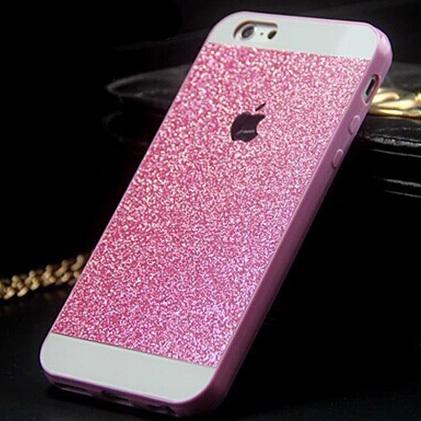 Luxury Crystal Bling Glitter Powder Shine Hard Case Protector Cover For iPhone 4 5 5s 6 fundas skin capa para(China (Mainland))