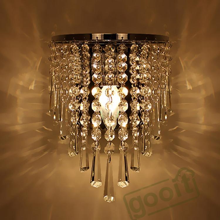 MEEROSEE Crystal Chandeliers Modern LED Ceiling Lights