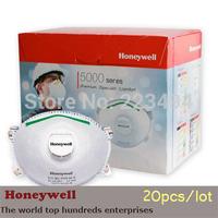 20 pcs/lot Honeywell original disposable masks particulate respirator anti-fog/haze/PM2.5 cool valve mask 5211 free ship HN01
