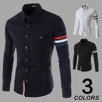 2015 New Men Casual Shirt  Long Sleeve Solid Shirt With Pocket Men Casial-shirt Camisa Masculina Shirt Men Free shipping