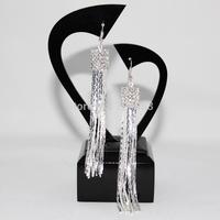 Fashion Simply Design Women Silver Plated New Dangle Earrings Retro Long Drop Earrings Women Eardrop women's accessories