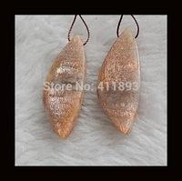 Sunstone Earring Bead,39x16x5mm,9.7g