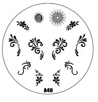 HOTSALE A Series A46 Nail Art Polish DIY Stamping Plates Image Templates Nail Stamp Stencil Manicure Care Beauty Designs Tools