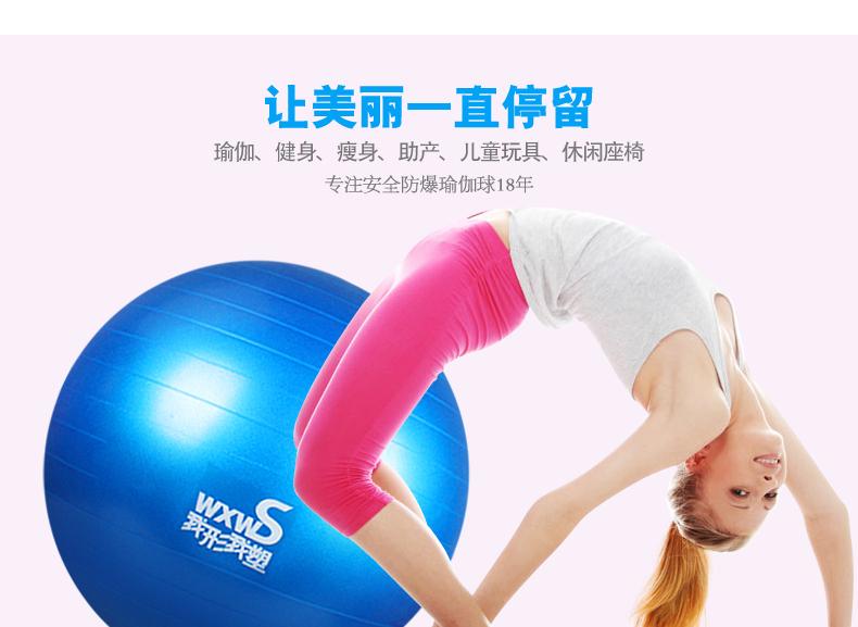 55cm Yoga Home Gym Exercise Pilates Equipment Fitness Ball Pump 2 Colors-1pcs(China (Mainland))