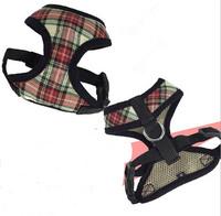 High quality pet dog fashion harness dogs grid harnesses puppy vest pets products 1pcs/lot S M L XL