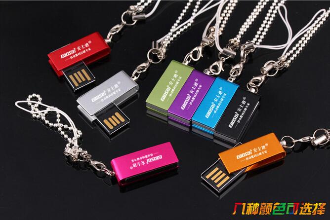 Custom Logo USB Brand New Mini Waterproof Swivel model usb 2.0 memory flash Pendrive (50 pcs Free logo)(China (Mainland))