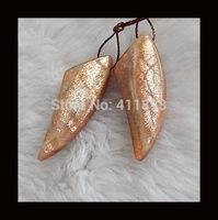 Sunstone Earring Bead,39x15x5mm,9.7g