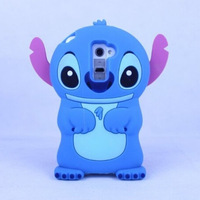 Cute 3D Stitch Cartoon Silicone Rubber Cover Back Phone Case For LG G2 Free Shipping