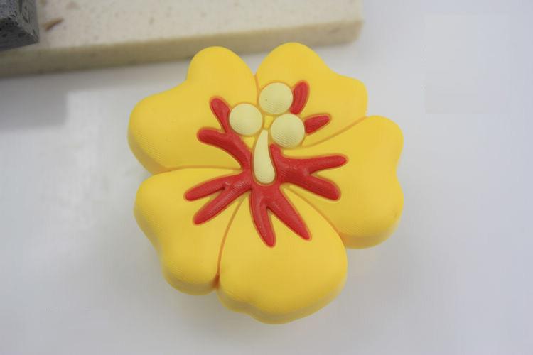 10Pcs/Lot Kids Childrens Novelty Wardrobe Drawer Cabinet Cupboard Flower Handles Knobs Dia 42mm(China (Mainland))