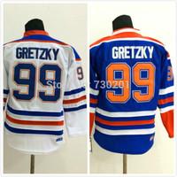 Youth Wholesale Cheap Ice Hoceky Jersey Cheap #99 Wayne Gretzky Hockey Jersey Stitched and Sewn