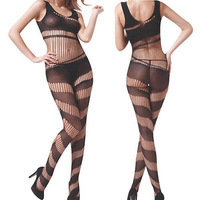 Womens Babydoll Sexy Lingerie Nightwear Body Stocking Suit Lace Sheer