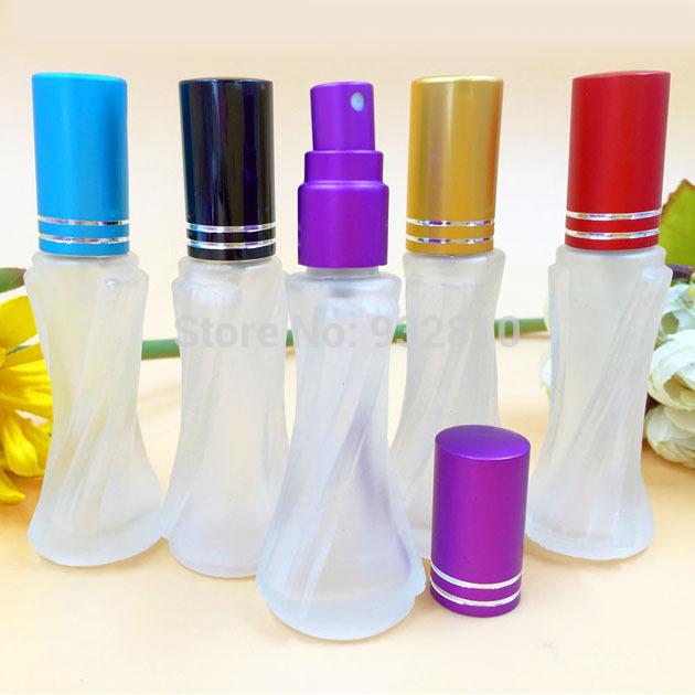8ml Color Cap Glass Perfume Bottle Refillable Empty Sprayer Bottle Atomizer MINI Makeup Containers Women Favors 10pcs/lot DC367(China (Mainland))
