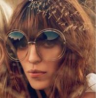 2015 New Fashion floral Mirror Sunglasses Vintage Eyeglasses glasses round shape famouse brand Women brand designer Sunglasses