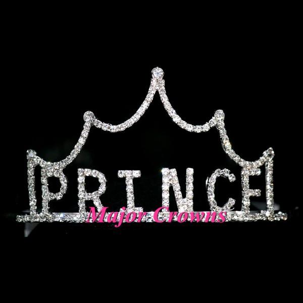 Silver Fashion PRINCE Word Crowns Men Boy Party Pageant Crown Tiara AL144(China (Mainland))