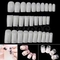 M65 500Pcs/pack Natural French False Acrylic Artificial Nail Tips False Nails Tips 3 Models