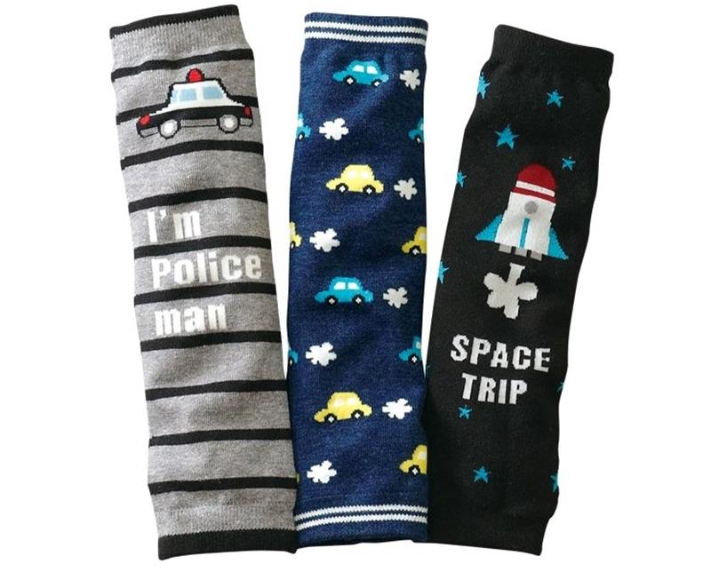 3 Pairs Striped Warm Cotton Toddler Baby Boy Leg Warmers 0-10 years Leggings Socks(China (Mainland))