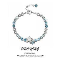 2015 Rock Long Korea Style Romantic Lover's Gift Charm Vintage Crystal Gold Bracelets For Women magnetic hipanema Best Friends