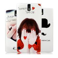 Thin Slim Cartoon Plastic Back Cases Cover For Oneplus One 1+Smart Mobile Phone Bags Protective Guards Pelicula De Vidro