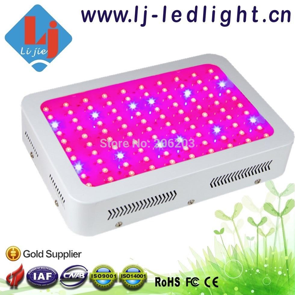 Top marca Bridgelux Chip de 300 W levou crescer espectro completo de luz 100 * 3 W 8 bandas para planta de jardim interior crescer(China (Mainland))