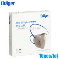 10 Pcs/lot drager original disposable masks particulate respirator anti-fog/haze/PM2.5 mask headband 1190 free ship ZSY012903