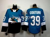 Stitched San Jose Sharks #39 Logan Couture Ice Hockey Jerseys Stitched and Sewn