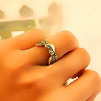 fashion  Vintage wing heart love letter finger ring