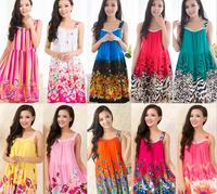 Summer  Women Comfortable Strap Sweet Sleepwear Print Nightdress Lady Home Dress yc15005