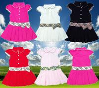 Lowest price Kids / Girls Brand Dresses skirt Children Princess Dress Summer cotton Infant/Baby Polo Dress teenage Free Shipping