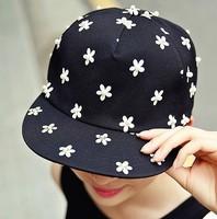 Rhinestone beading flower baseball cap sunbonnet hiphop cap female