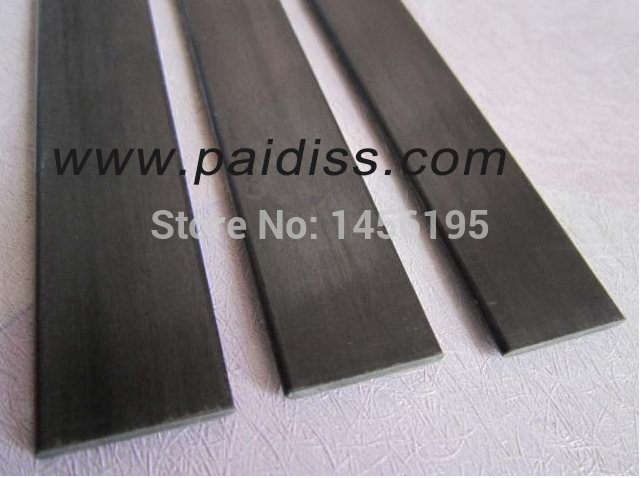 (10pcs/Lot) 0.2X3X1000mm Carbon fiber sheet carbon strip aeromodelling material plane reinforcing square bar(China (Mainland))