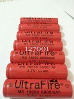 10 Pcs 18650 battery Ultrafire 3.7V 6800mah Li-ion Rechargeable Battery Flashlight batteries wholesale