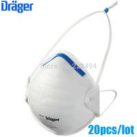 20 Pcs/lot drager original disposable masks particulate respirator anti-fog/haze/PM2.5 mask headband 1350 free ship ZSY012914