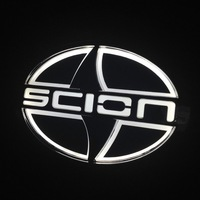 New 5D LED Laser Car Styling Stickers Decal Logo Badge Emblem Light Lamp Auto Lamp Bulb For Scion White Bule Red 12.5CM*8.5CM