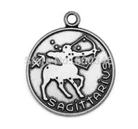 Tibetan Silver Zodiac Charms Pendants,Sagittarius Sign Charms